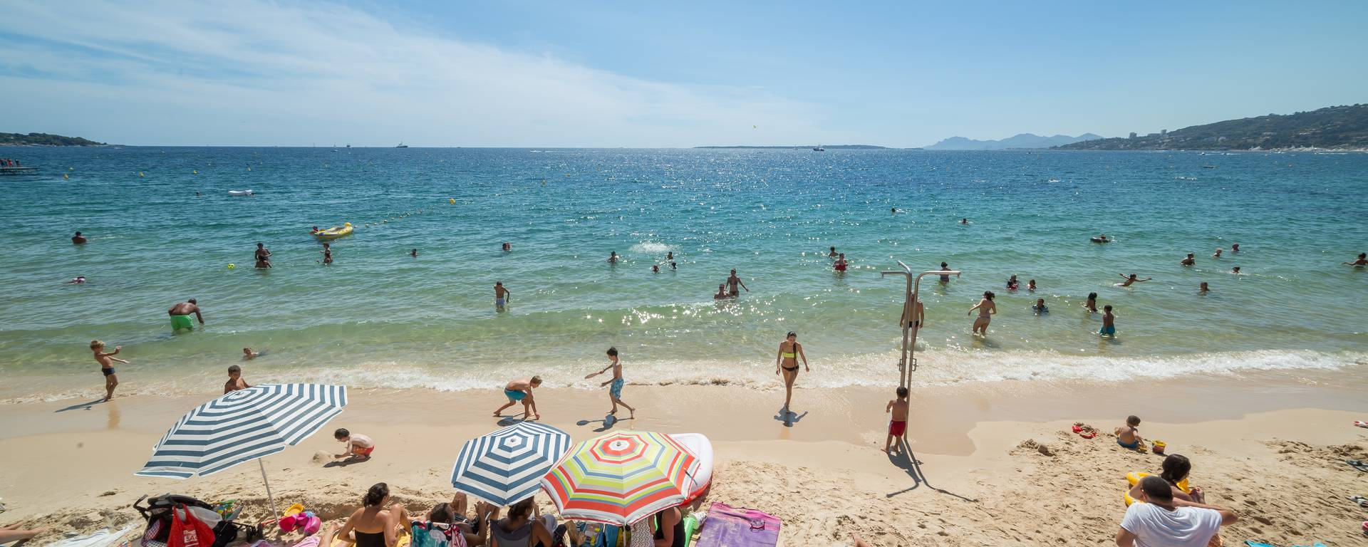 Public beach of Juan-les-Pins