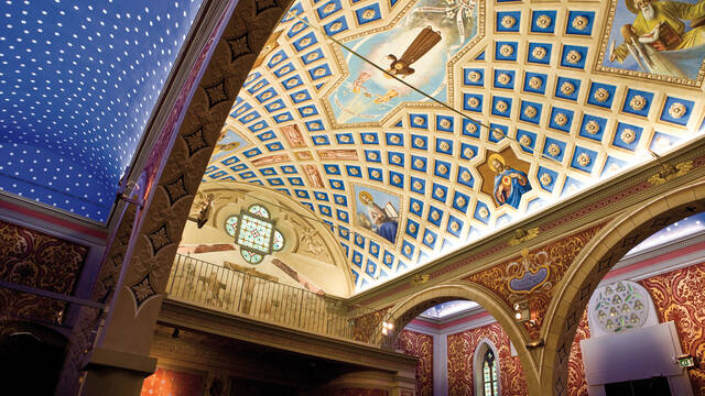 Chapelle St Bernardin plafond- Vieil Antibes © F. Trotobas (Mairie d'Antibes JLP - service presse communication)
