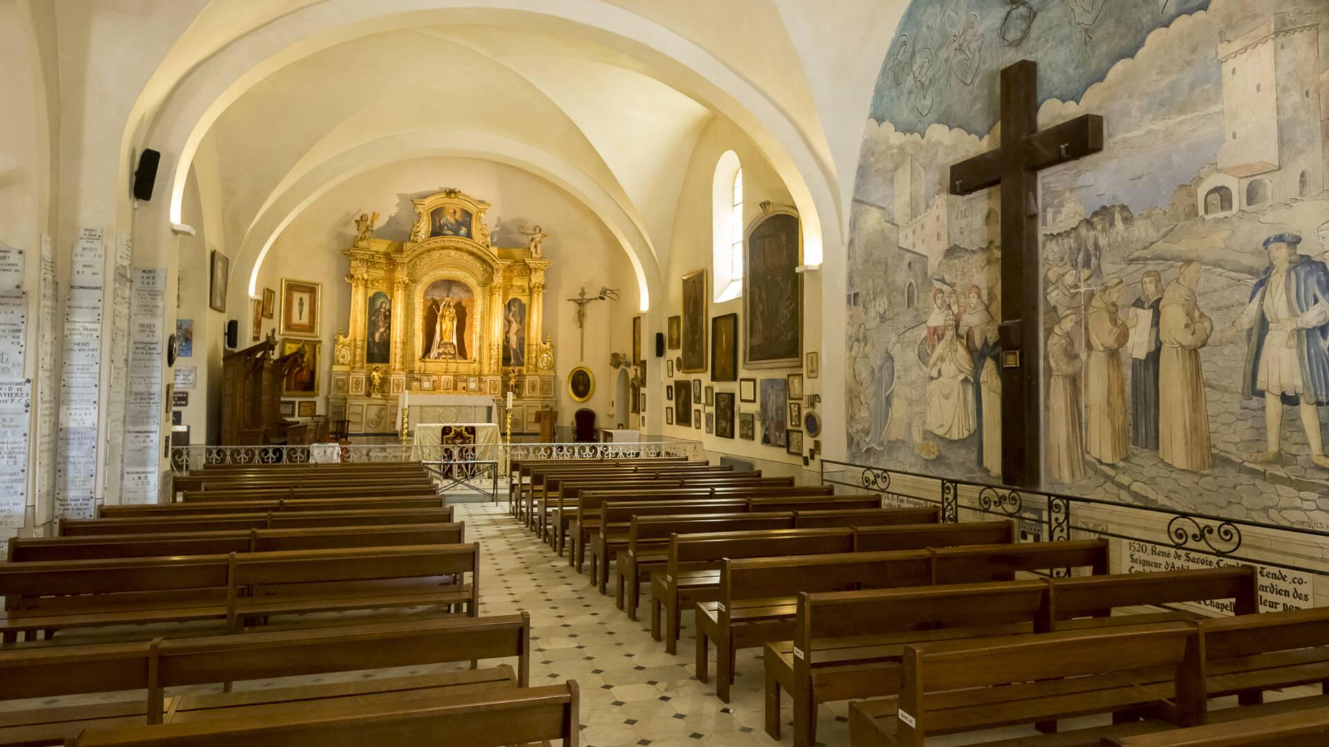 Intérieur chapelle de la Garoupe ©Gilles Lefrancq