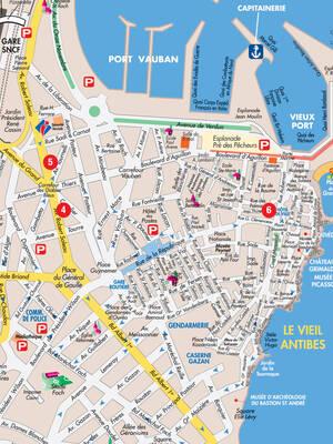 Plan de ville Antibes Juan-les-Pins