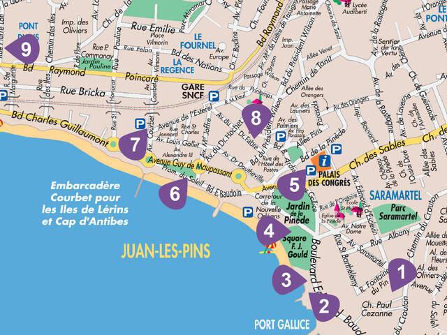 Plan de Juan-les-Pins