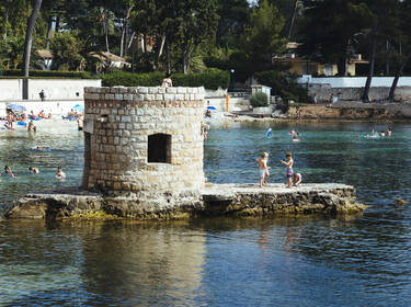 The Onde beach at Cap d'Antibes