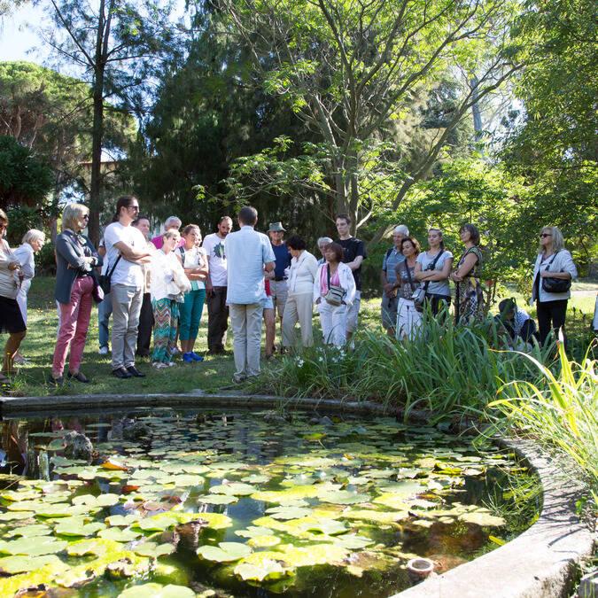 Le jardin botanique de la villa Thuret ©J Bayle